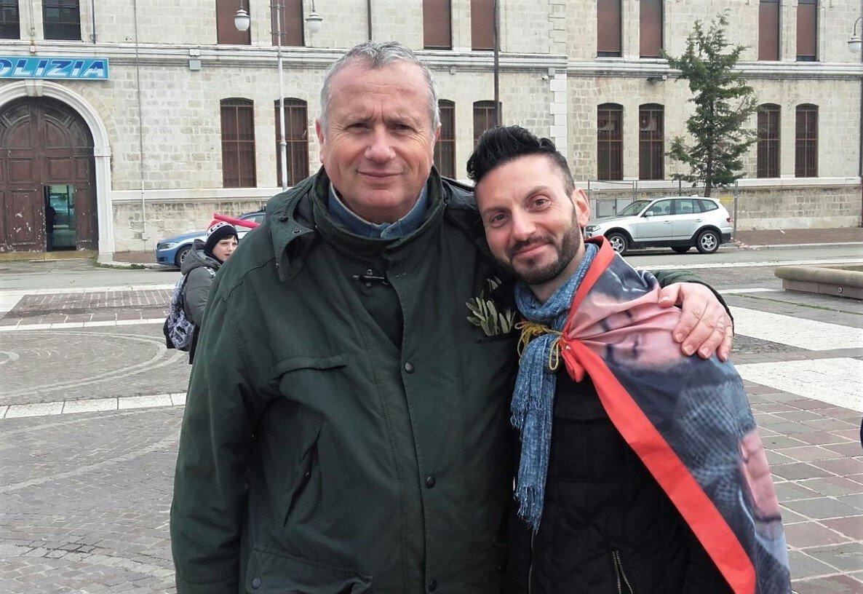 Foggia - Il coordinatore AR con Dario Vassallo, fratello del del Sindaco Pescatore
