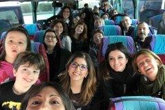 Foggia: La dirigente dell'istituto comprensivo Caporizzi Lucarelli - Acquaviva delle fonti - BA - con i genitori in marcia verso la Capitanata
