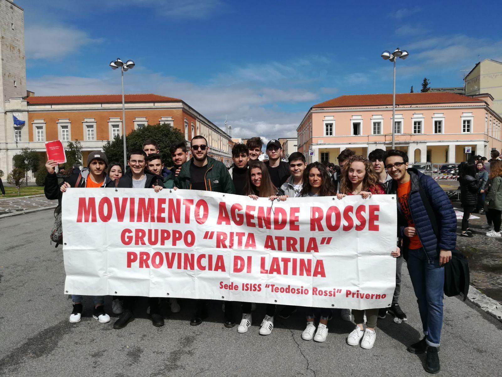 """Studenti dell'Isiss Teodosio Rossi  Priverno (Lt) Gruppo """"Rita Atria"""""""
