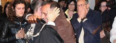 Piero Campagna e l'avv. Fabio Repici, alla lettura della sentenza di condanna per Alberti Jr e Sutera