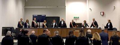 La Corte nell'aula bunker del carcere Pagliarelli di Palermo