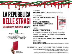 """Presentazione """"La Repubblica Delle Stragi"""" a Milano @ Palazzo Pirelli - Sala Pirelli"""