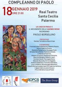 Compleanno di Paolo Borsellino @ Real Teatro Santa Cecilia