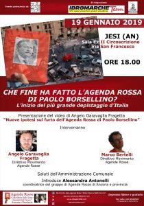 """""""Open day"""" Agende Rosse e convegno """"Che fine ha fatto l'agenda rossa di Paolo Borsellino?"""": a Jesi (AN) @ Sala ex II Circoscrizione"""
