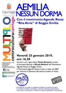 """""""Aemilia. Nessun dorma"""" @ Multiplo Centro Culturale Cavriago"""