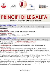 Principi di legalità - La Repubblica delle stragi @ Museo del tessile - Busto Arsizio (VA)