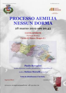 PROCESSO AEMILIA NESSUN DORMA @ CAVOLAFORUM