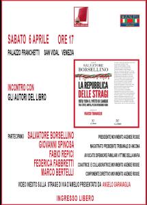 Presentazione de 'La Repubblica delle stragi' - Venezia @ Palazzo Franchetti - San Vidal