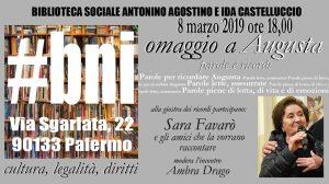 Palermo - Parole e ricordi per Augusta Schiera Agostino @ U Cuntu - Biblioteca sociale Nino e Ida