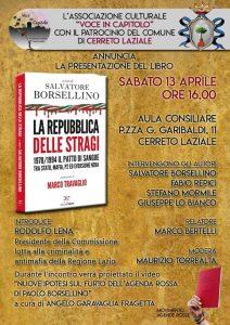Presentazione libro 'La Repubblica delle stragi' - Cerreto Laziale, 13/4/2019 @ Cerreto Laziale (Roma)