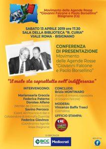 """Presentazione AR Bisignano con Brizio Montinaro @ Sala della Biblioteca """"R. Curia"""""""