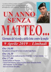 'Un anno senza Matteo' - Limbadi, 9/4/2019 @ Limbadi (Vibo Valentia)