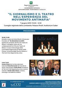 Incontro con Paolo Borrometi @ Consiglio Regionale della Lombardia ,Palazzo Pirelli, Auditorium Gaber