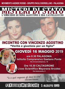 Vincenzo Agostino incontra le scuole - 16/5/2019 @ Palagonia e Caltagirone (CT)