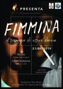 """""""Fimmina"""" il coraggio di essere donna  - Bollate (MI) @ Auditorium Don Bosco"""