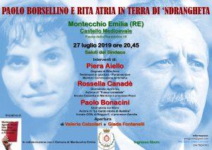 Paolo Borsellino e Rita Atria in terra di 'andrangheta. Montecchio Emilia (RE) @ Montecchio Emilia