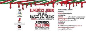 Presentazione 'La Repubblica delle stragi' - Acireale (CT), 22/7/2019 @ Palazzo del turismo