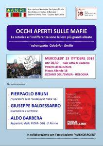 """""""Occhi aperti sulle mafie"""" - Ozzano Emilia (BO) @ Ozzano Emilia (BO)"""