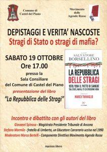 Presentazione del libro 'La Repubblica delle stragi' - Castel del Piano, 19/10/2019 @ Sala Consiliare del Comune di Castel del Piano