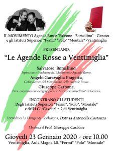 """Progetto """"Salvatore Borsellino incontra gli studenti di Ventimiglia"""" @ Ventimiglia"""