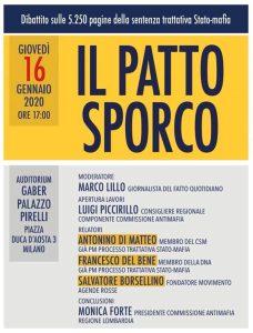 Milano - Presentazione del libro «Il Patto Sporco» @ Auditorium Giorgio Gaber di Palazzo Pirelli