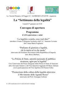 Conferenza sulla legalità @ Poggio (Imperia)