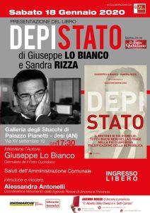 """presentazione del libro """"Depistato"""" con l'Autore Giuseppe Lo Bianco - Jesi (AN), sabato 18 gennaio 2020 @ Galleria degli Stucchi di Palazzo Pianetti"""
