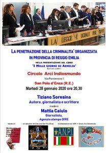 La penetrazione della criminalità organizzata nella provincia di Reggio Emilia - incontro a San Polo d'Enza (RE) @ Circolo Arci Indiosmundo
