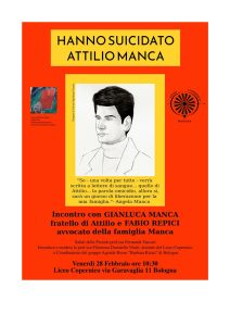 """Hanno suicidato Attilio Manca @ Liceo Linguistico """"Copernico"""""""