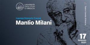 Brescia, laurea magistrale Honoris Causa a Manlio Milani @ Teatro Grande di Brescia