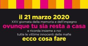 XXV Giornata della Memoria e dell'Impegno in ricordo delle vittime innocenti delle mafie