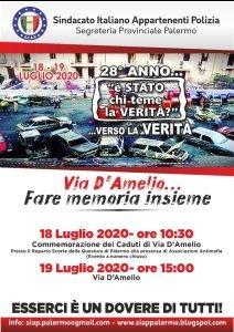 SIAP Caserma Lungaro Via D'Amelio 19 luglio 2020