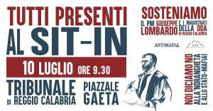 Manifestazione in sostegno al PM Giuseppe Lombardo @ Tribunale di Reggio Calabria