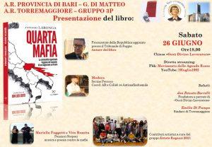 Torremaggiore: Laronga presenta il libro Quarta Mafia @ Chiesa Gesù Divino Lavoratore